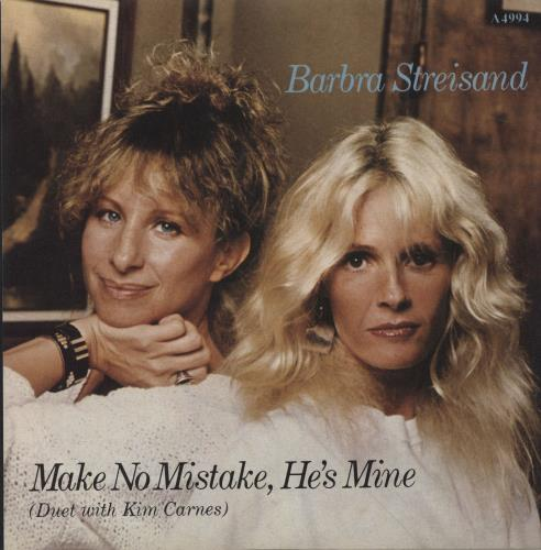 "Barbra Streisand Make No Mistake, He's Mine 7"" vinyl single (7 inch record) UK BAR07MA294815"