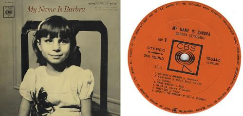 Barbra Streisand My Name Barbra vinyl LP album (LP record) Japanese BARLPMY385568