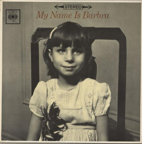 Barbra Streisand My Name Is Barbra vinyl LP album (LP record) UK BARLPMY331279