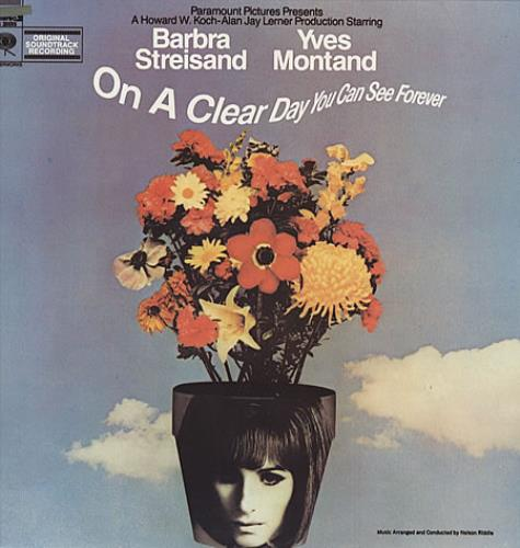 Barbra Streisand On A Clear Day You Can See Forever vinyl LP album (LP record) US BARLPON337034