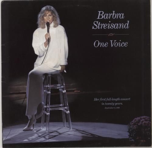 Barbra Streisand One Voice vinyl LP album (LP record) UK BARLPON672236