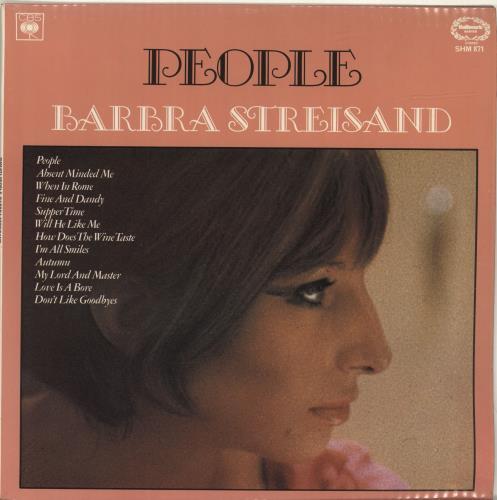 Barbra Streisand People vinyl LP album (LP record) UK BARLPPE694167