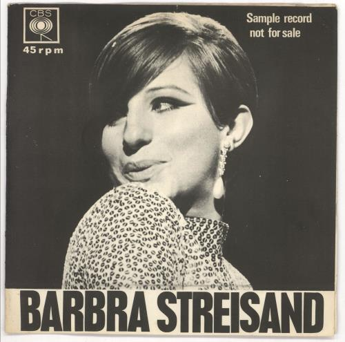 "Barbra Streisand Sample Record 7"" vinyl single (7 inch record) South African BAR07SA70018"