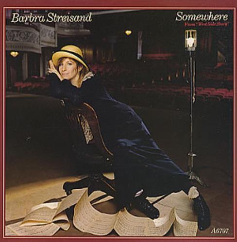 "Barbra Streisand Somewhere 7"" vinyl single (7 inch record) UK BAR07SO126447"