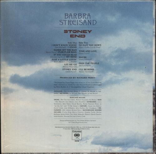 Barbra Streisand Stoney End vinyl LP album (LP record) US BARLPST748715