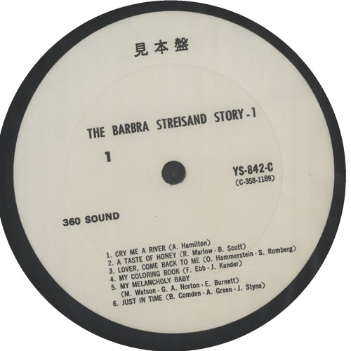 Barbra Streisand The Barbra Streisand Story 2-LP vinyl record set (Double Album) Japanese BAR2LTH642896