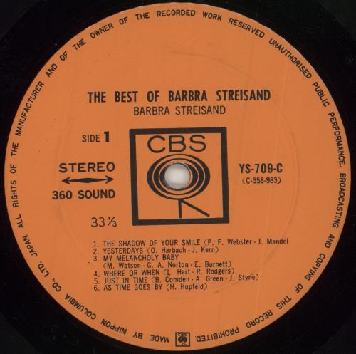 Barbra Streisand The Best Of Barbra Streisand + obi vinyl LP album (LP record) Japanese BARLPTH653172