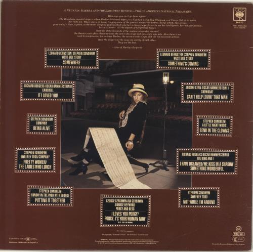 Barbra Streisand The Broadway Album vinyl LP album (LP record) UK BARLPTH245176