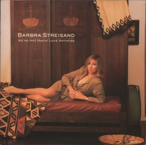 "Barbra Streisand We're Not Makin' Love Anymore 7"" vinyl single (7 inch record) UK BAR07WE70667"