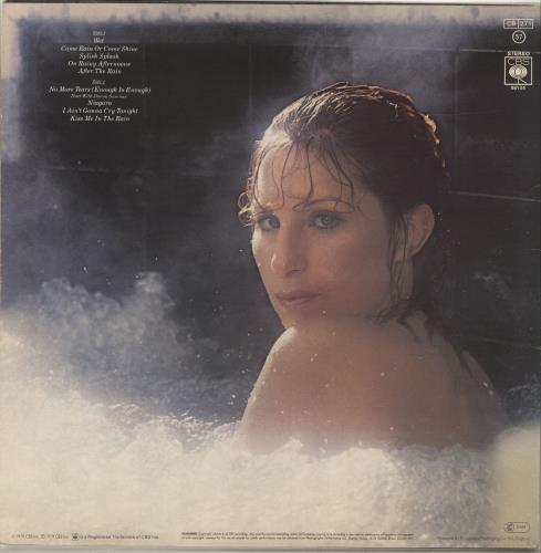 Barbra Streisand Wet - Picture stickered sleeve vinyl LP album (LP record) Dutch BARLPWE302567