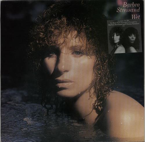 Barbra Streisand Wet - Stickered Sleeve UK vinyl LP album (LP record)