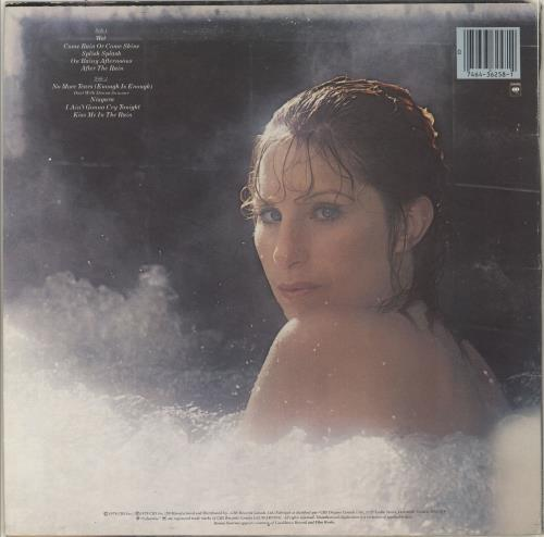 Barbra Streisand Wet vinyl LP album (LP record) Canadian BARLPWE713162