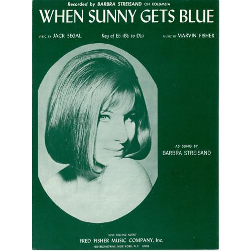 Barbra Streisand When Sunny Gets Blue sheet music US BARSMWH459618