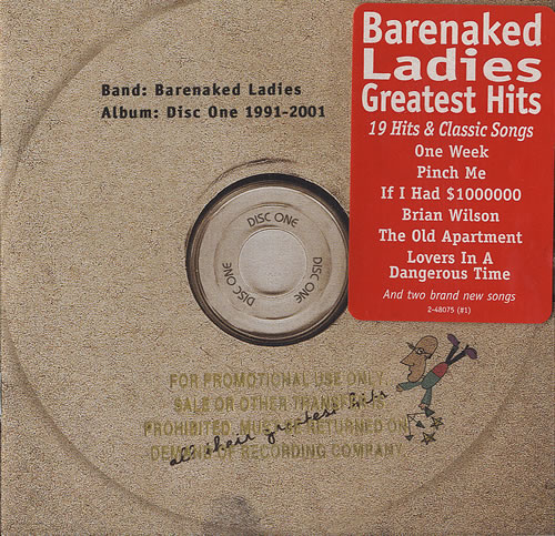 Barenaked Ladies Disc One All Their Greatest Hits 1991 2001 Us Cd