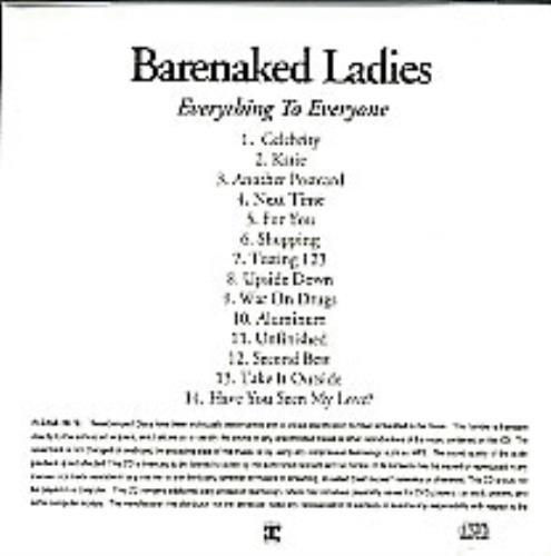 Barenaked Ladies Everything To Everyone CD-R acetate US BIECREV265753