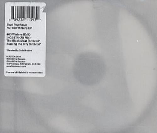 "Bark Psychosis 400 Winters EP CD single (CD5 / 5"") UK BCJC5WI327434"