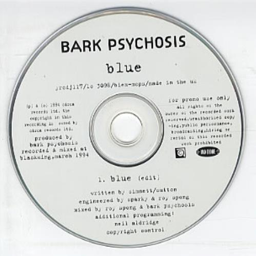 "Bark Psychosis Blue CD single (CD5 / 5"") UK BCJC5BL328360"