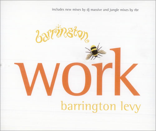 "Barrington Levy Work CD single (CD5 / 5"") UK B0QC5WO507148"