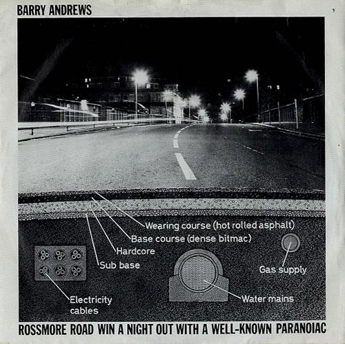 "Barry Andrews Rossmore Road 7"" vinyl single (7 inch record) UK YAW07RO206500"