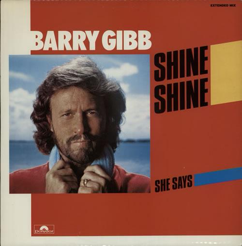 "Barry Gibb Shine Shine 12"" vinyl single (12 inch record / Maxi-single) UK BGB12SH111007"