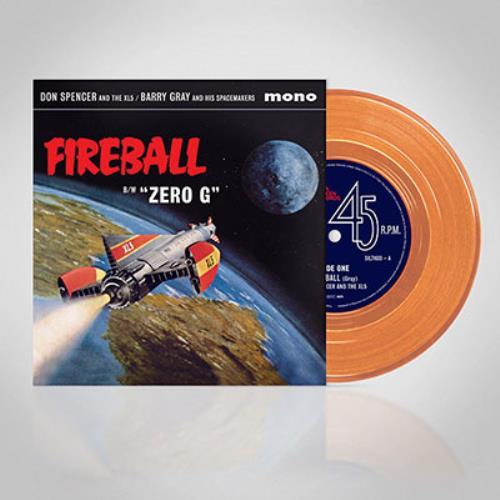 "Barry Gray Fireball XL5 - Orange Vinyl 7"" vinyl single (7 inch record) UK BZY07FI758318"
