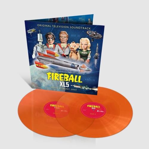 Barry Gray Fireball XL5 - Orange Vinyl 2-LP vinyl record set (Double Album) UK BZY2LFI760736