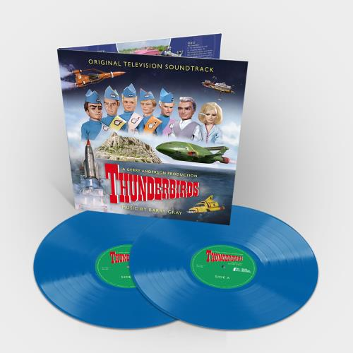 Barry Gray Thunderbirds - Sky Blue Vinyl 2-LP vinyl record set (Double Album) UK BZY2LTH749016