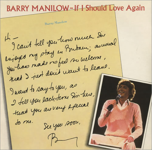 Barry Manilow If I Should Love Again UK 7