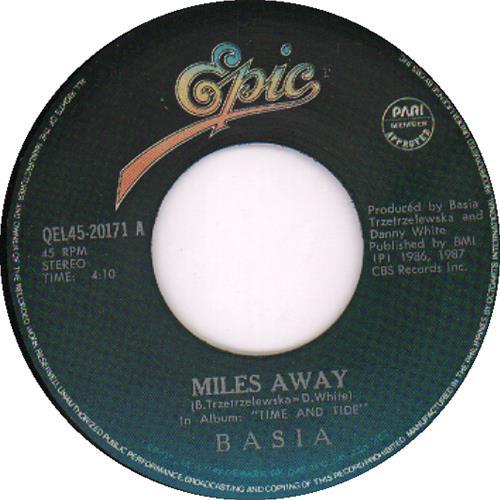 "Basia Miles Away 7"" vinyl single (7 inch record) Philippino BSI07MI644507"