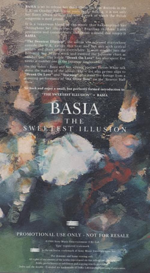 Basia The Sweetest Illusion video (VHS or PAL or NTSC) UK BSIVITH406862