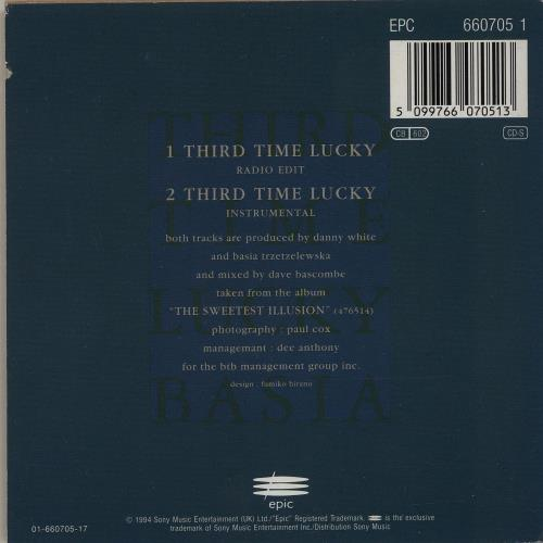 "Basia Third Time Lucky CD single (CD5 / 5"") Austrian BSIC5TH82783"