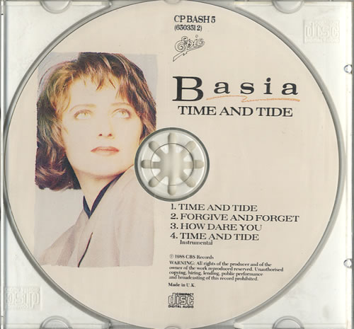 "Basia Time And Tide CD single (CD5 / 5"") UK BSIC5TI73530"