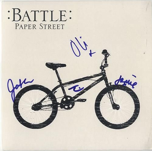 "Battle Paper Street - Autographed 7"" vinyl single (7 inch record) UK BT007PA625672"