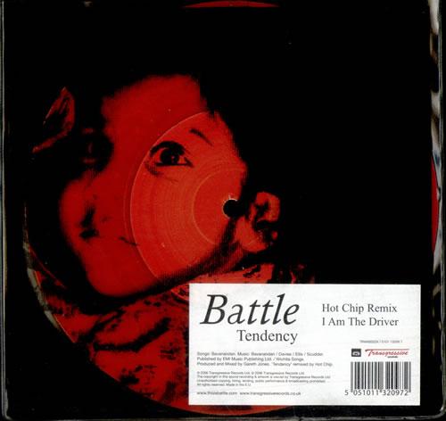 "Battle Tendency 7"" vinyl single (7 inch record) UK BT007TE352629"