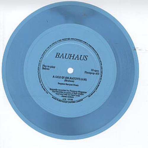 "Bauhaus A God In An Alcove - Flexi 7"" vinyl single (7 inch record) UK BAU07AG307162"