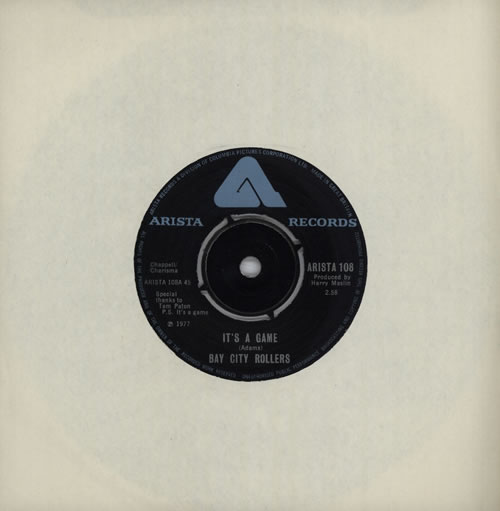 """Bay City Rollers It's A Game 7"""" vinyl single (7 inch record) UK BAY07IT564074"""