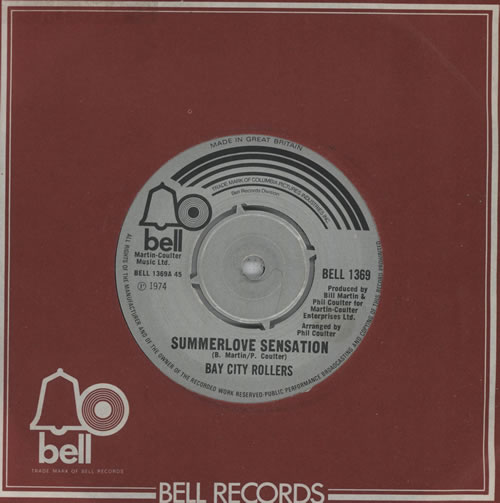 "Bay City Rollers Summerlove Sensation 7"" vinyl single (7 inch record) UK BAY07SU569814"