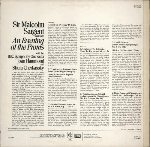 BBC Symphony Orchestra An Evening At The Proms vinyl LP album (LP record) UK B6ZLPAN766955