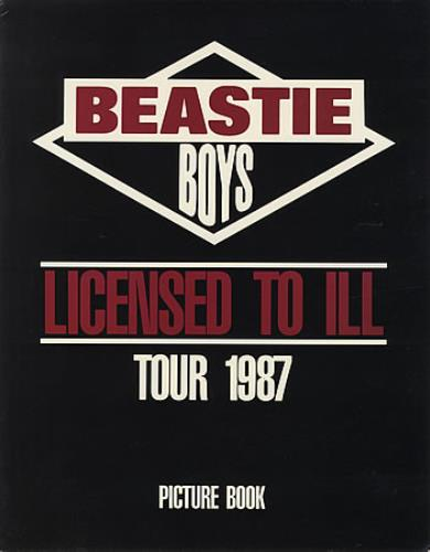 Beastie Boys Licensed To Ill Tour 1987 tour programme US BEATRLI59237