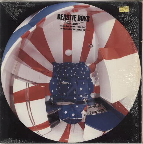 "Beastie Boys Love American Style EP - Stickered 12"" vinyl single (12 inch record / Maxi-single) US BEA12LO47766"