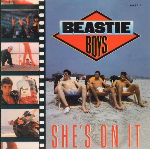"Beastie Boys She's On It 7"" vinyl single (7 inch record) UK BEA07SH35675"