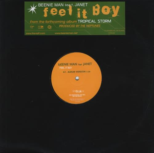 "Beenie Man Feel It Boy 12"" vinyl single (12 inch record / Maxi-single) UK B5Y12FE220260"
