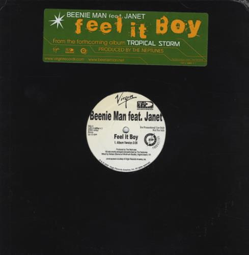 "Beenie Man Feel It Boy 12"" vinyl single (12 inch record / Maxi-single) US B5Y12FE225394"
