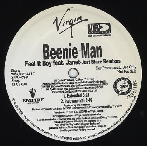 """Beenie Man Feel It Boy 12"""" vinyl single (12 inch record / Maxi-single) US B5Y12FE230948"""