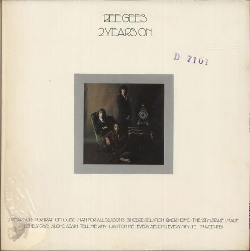 Bee Gees 2 Years On - Stickered Shrink vinyl LP album (LP record) US BGELPYE691340