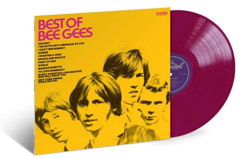 Bee Gees Best Of Bee Gees - Crimson Vinyl vinyl LP album (LP record) US BGELPBE749046