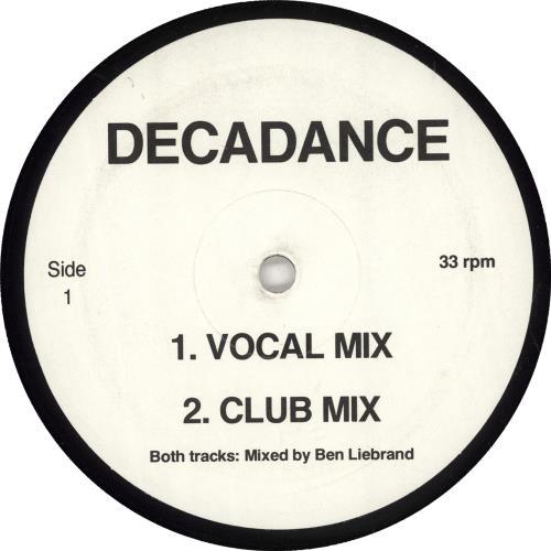 "Bee Gees Decadance 12"" vinyl single (12 inch record / Maxi-single) UK BGE12DE703078"