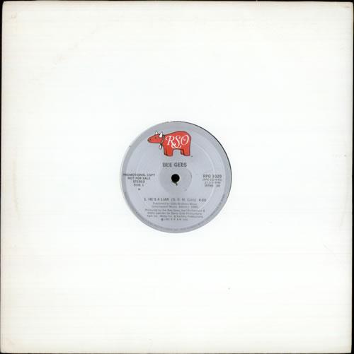 "Bee Gees He's A Liar 12"" vinyl single (12 inch record / Maxi-single) US BGE12HE131412"