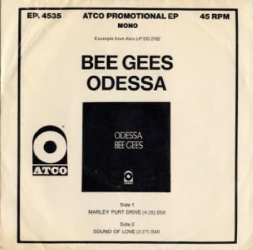 "Bee Gees Odessa Sampler 7"" vinyl single (7 inch record) US BGE07OD140336"
