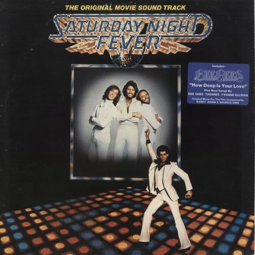 Bee Gees Saturday Night Fever - Stickered + Insert 2-LP vinyl record set (Double Album) UK BGE2LSA522306
